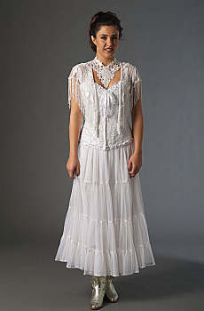 White Boho Chic Wedding Outfit with Western Flare. [Limited Edition]. #Outfit0069WED