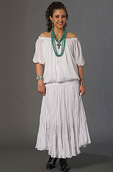 Cowgirl Wedding Peasant Outfit. (7 days to ship). [Limited Edition]. #Outfit0071WED