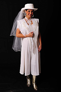Western Chic Wedding Attire. (10 days to ship). [Limited Edition]. #Outfit0075WED