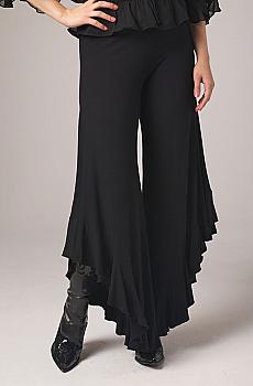 Sexy Long Gaucho Pant with Ruffles. #1409