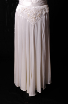 Western Wedding White Satin Sequined Skirt. [Limited Edition]. #5025