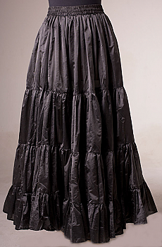 Silk Ruffled Skirt. (3 days to ship). [Limited Edition]. #5101