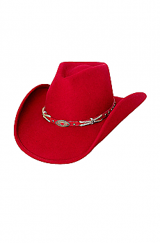Sassy Cowgirl Hat In Red. (7 days to ship). #0678R