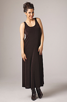 Sleeveless Long Scoop Neck Dress. #10017DJO