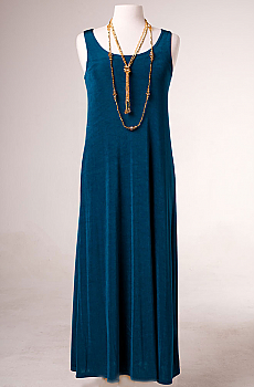 Jersey Scoop Neck Long Dress. #10020D