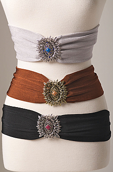Unique Cowgirl Stretch Belt with Buckle. #1320BL