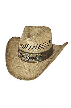 Shapeable Raffia Straw Cowgirl Hat. (7 days to ship). #2797Hat
