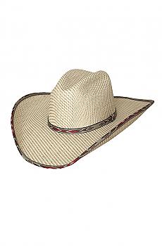 Straw Cowboy Hat - Range War 50X. (7 days to ship). #2806Hat