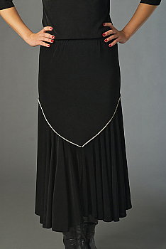 Black Sexy Long Skirt with Rhinestone. (10 days to ship). #5058-C339
