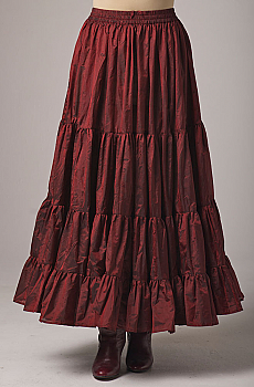 Silk Romantic Ruffled Skirt. (3 days to ship). [Limited Edition]. #5093SHB