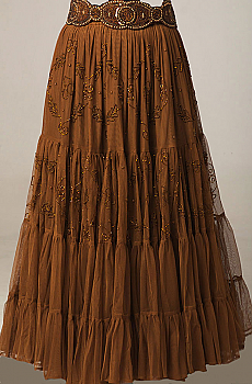 Copper Color Beaded Skirt. #6036-Shiba