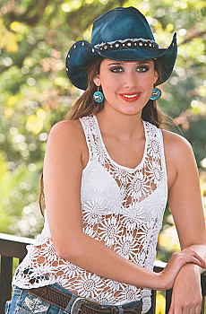 Women's Denim Cowgirl Hat. (3 days to ship). [Limited Edition]. #AE2792Hat