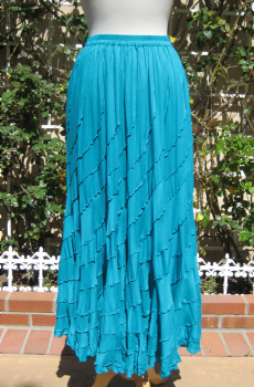 Cowgirl Skirt in Teal. (7 days to ship). [Limited Edition]. #BBS80-T