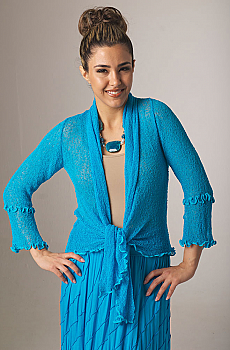 Boho Chic Crochet Tie Front Top. (7 days to ship). [Limited Edition]. #BO1134BB