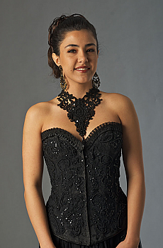 Black Beaded Bustier. (3 days to ship). [Limited Edition]. #BT412