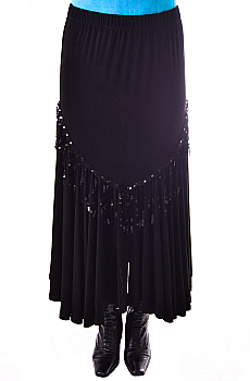 Flounce Sequined Western Skirt. (10 days to ship). [Limited Edition]. #C339JKSQ