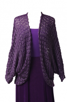 Purple Knitted Cardigan. [Limited Edition]. #CAR103