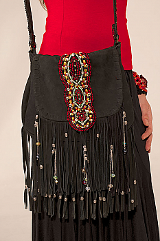 Handmade One of a kind Fringe Handbag. #1113SUB