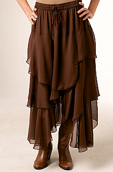 Formal Brown Western Long Skirt. #6042SK