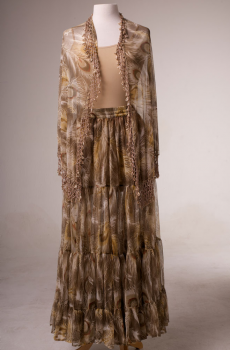 Peacock Feather Design Beaded Outfit. (10 days to ship). [Limited Edition]. #Outfit 0061