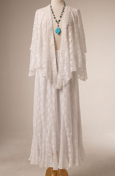 Western Wedding White Lace Outfit. (10 days to ship) [Limited Edition]. #Outfit 10115WT