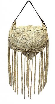 Bohemian Crotchet Crescent Shoulder Bag. #ABS 050