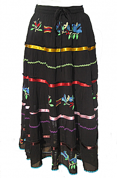 Southwestern Design Embroidered Skirt. (5 Days To Ship). #SK50001