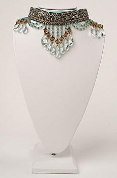 Aqua Color Crystal Handmade Choker. (7 Days to ship). [Limited Edition]. #NCK201610-B