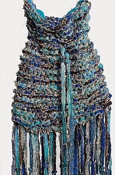 Hand Knitted One Of a Kind Boho handbag. #1001-16