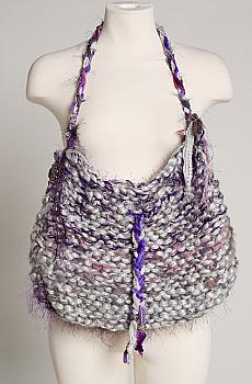 Hand Made Purple Multi Handbag. ( 4 weeks to ship). #1003-16