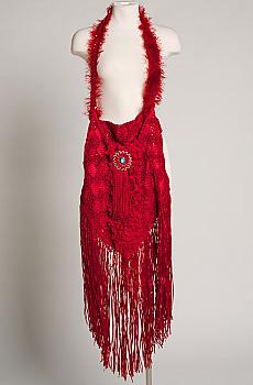 Red Boho Chic Handbag One of a Kind. #HB1005-16