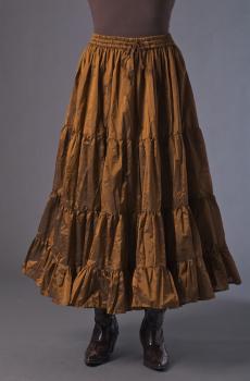 Boho Style Ruffled Copper Skirt. #BO210