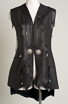 Leather Handmade Vest. (4 weeks to ship). #VST7000-17