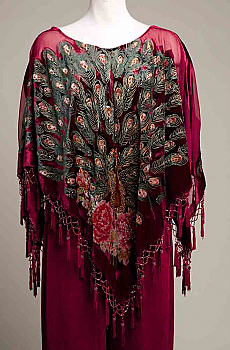 Elegant Peacock Rayon Beaded Poncho. (10 days to ship). #PON001017 Limited Edition