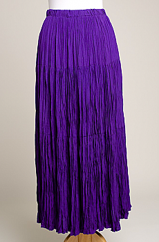 Elegant purple color Broomstick Western Skirt. #SK5006-17