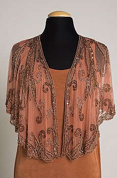 Romantic Beaded Cape. #CAP10617 - More colors available