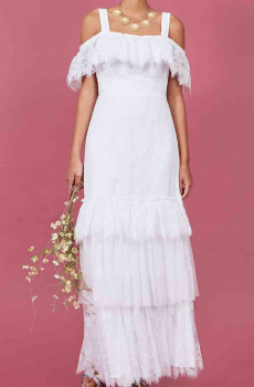 Western Boho Inspired Wedding Dress. (4 weeks to ship). #DRW1213-17Limited Edition