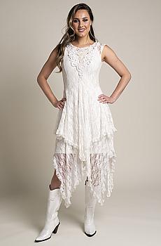 Hand Embellished Western Wedding Dress. (2 weeks to ship). #D01118