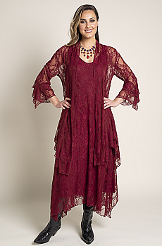 Formal Western Wear Burgundy Jacket and Dress (2 weeks to ship) Outfit BR 112818