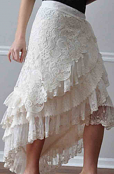Asymmetrical Lace Skirt (2 days to ship). #Wrap-Lace-Skirt