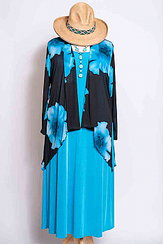 Exquisite Floral Jacket Dress Set #Outfit 10920 (7 Days to Ship)