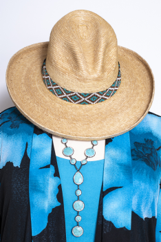 Cowgirl Palm Oak Gus Hat With Southwestern Beaded Hat Band #10220Hat ( ship within 2 weeks)