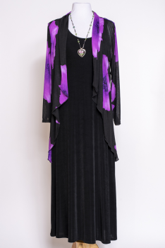 Western Floral Black Purple Jacket Set #Outfit10220BP (7 days to ship)