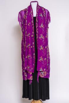 Exquisite Hand Beaded Vintage Kimono Vest With Fringe #100720KM