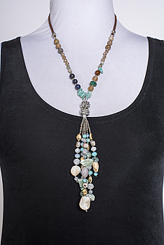 Precious stone Elegant Necklace #101620 NCL