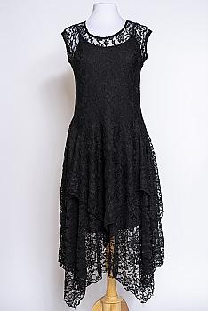 Romantic Lace Uneven Hem Dress #12320 DRBL (10 days to ship)