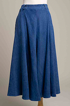 Denim Blue Ladies Gaucho. #SH1209-17